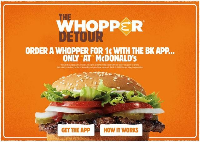 """Chiến dịch """"troll"""" đối thủ của Burger King: Biến 14.000 cửa hàng McDonald's thành điểm đặt món giảm giá - Ảnh 3."""